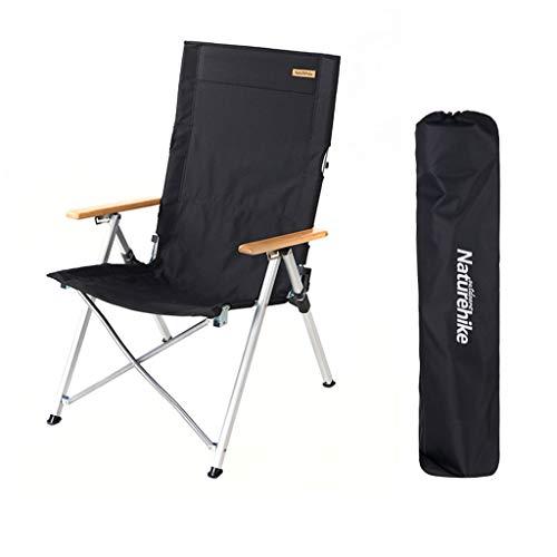 BAR STOOL Faltender kampierender Stuhl, Aluminiumliegestuhl faltender Garten-Rasen-Fischen-Skizze-Strand-Camping, justierbarer im Freienposition Stuhl mit Tragetasche für Tätigkeiten, 2 Farben -