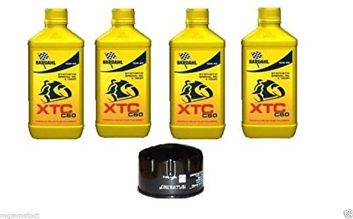Kit Tagliando 4 LITRI Bardahl XTC 10W40 Filtro Olio aprilia dorsoduro 750/1200