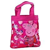 Peppa Pig Children's Girls 'Peppa Rocks' Mini Small PVC Shopper Tote Bag Pink Transparent PVC Shopper Tote Bag 21cm (h)