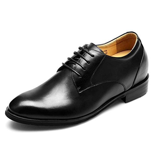 CHAMARIPA-Mens-Black-Leather-Elevator-Lace-up-Shoes-with-Height-Increasing-Insoles-Look-Taller-75CM295-Inch-DX70H106S