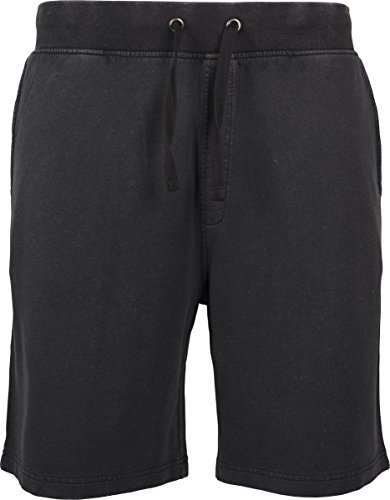 Urban Classics Herren Acid Wash Shorts, Schwarz (Black 00007), W34 (L) (Wash Acid Jeans)