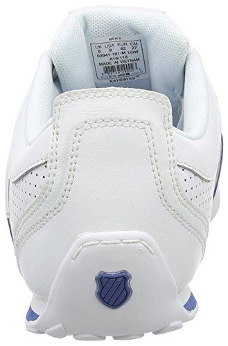 K-Swiss Herren Arvee 1.5 Perf Sneakers Weiß (White/Brunner Blue/Gull Gray)