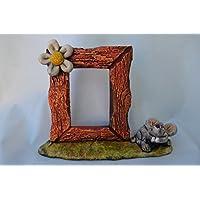 Marco fotos cerámica ratón- flor.