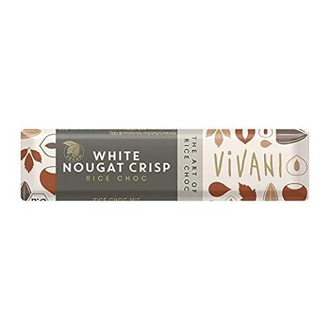 Vivani Organic Chocolate   White Nougat Crisp   2 x 18 x 35g