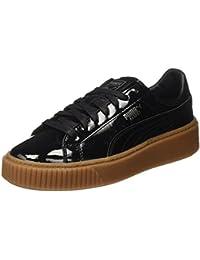 Puma Damen Basket Platform Patent Sneaker