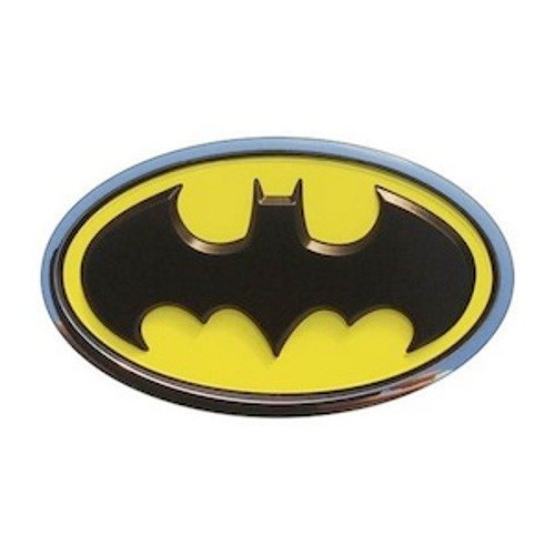 Fan Emblems Batman Logo 3D Car Emblem Schwarz / Gelb / Chrom, DC Comics Automotive Aufkleber Abzeichen Biegt vollständig an Autos, Lastwagen, Motorräder, Laptops, Windows, fast ()
