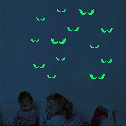 Chlyuan-hm Fluoreszierende Wandaufkleber Wandtattoos Leuchtende Wörter Aufkleber in der Nacht - Augen - Glow In The Dark Wallpaper für Kinder Schlafzimmer Decke