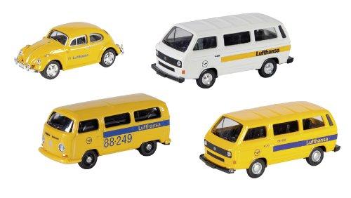 SchucoModèle réduit de voiture 452595900 Set de 4 véhicules Lufthansa H0 Époque:IV