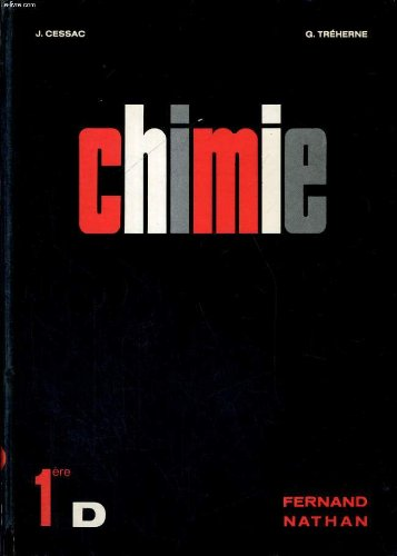 Chimie - classe de premiere d - nouveau programme