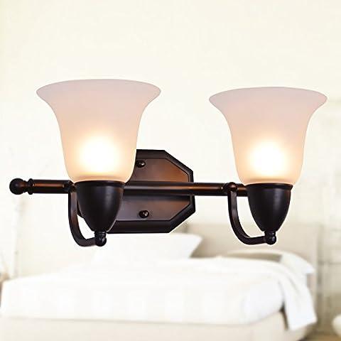 FEI&S specchio da parete lampada frontale lampada al posto letto camera da letto specchio-lampada minimalista in stile salotto lampada da parete #11B