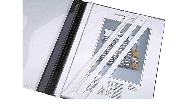 DURABLE 292402 bianco per cartelline ad aghi f.to A4 Dorsino protettivo confezione da 50 pezzi ideale per nascondere e proteggere il pressino fermafogli