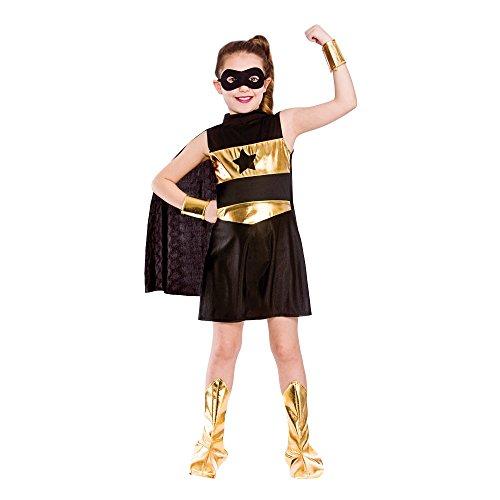 Superheld-Mädchen-Abendkleid-Kostüm (L - 8/10 (Mädchen Kinder Kostüme Für Superhelden)