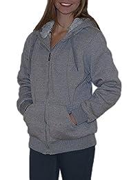 S&LU tolle, kuschelig warme Damen Fell-Sweatjacke in vielen verschiedenen Größen