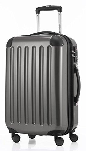 HAUPTSTADTKOFFER - Alex - 3er Koffer-Set Trolley-Set Rollkoffer Reisekoffer Erweiterbar, TSA, Doppelrollen, (S, M & L), Titan - 3