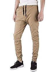 Italy Morn Pantalones Hombre Joggers con gota ocasional de los pantalones de la entrepierna Harem