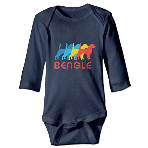WBinHua Bodysuits Baby Body, I Love Beagles Pop Baby Toddler Long Sleeve Onesies Bodysuits Carters 5 Pack Onesies