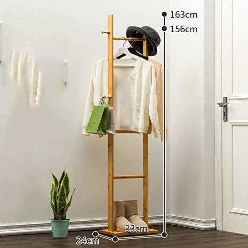 Kleiderständer Wooden Tree Coat Rack freistehende Garderobe, Stand mit Haken und Regalen Flur Kleiderbügel Hutständer for Handtaschen Kleidung & Accessoires für Schlafzimmer Ankleidezimmer Shop - Coat Tree