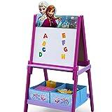 Anna & Elsa Eiskönigin Maltafel aus Holz für Kinder ab 3 Jahre Standtafel Magnettafel Whiteboard Kreidemaltafel Kindermaltafel Buchstaben ABC Magnet Disney