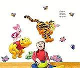 Aolevia Bremse Wandtattoo, Winnie Pooh Spielt im Garten Wand Aufkleber Sticker Aufkleber für Badezimmer Dekoration Taille45 * 65 cm