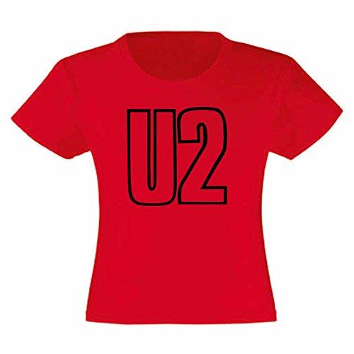 Art T-shirt, Maglietta U2, Bambina, Rosso, 12-13 Anni usato  Spedito ovunque in Italia