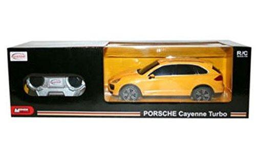 Mondo Motors 63023 - Macchina radiocomandata, Porsche Cayenne Turbo - Modello in scala 1:24 - COLORE GIALLO