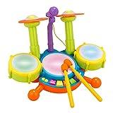 BOBORA Tambor Infantil Set de Batería Instrumentos Musicales Juguete...