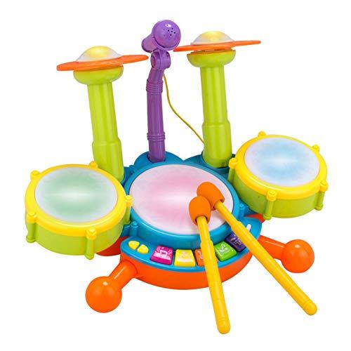 BOBORA Tambor Infantil Set de Batería Instrumentos Musicales Juguete Musical Educativo Electrónico...