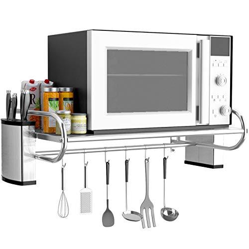 MAFYU 340 Edelstahl-Küchenregal Mikrowelle Wandhalterung Haushaltsbackofen Rack Halterung -