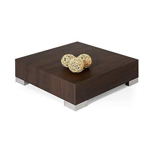 Cemento 60x60x18 cm Mobili Fiver iCUBE 60 Tavolino da Salotto Legno