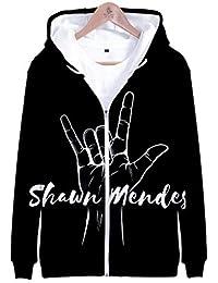 U CAN Shawn Mendes Felpe con Cappuccio Unisex Manica Lunga Tasca Felpe con Cappuccio Pullover Nero Abbigliamento sportivo