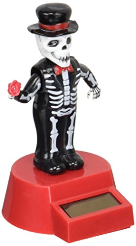 Fun and Cute Toys Halloween Solar Skeleton Groom Solar Powered Dancing Figure for Halloween or Over the Hill by Greenbrier