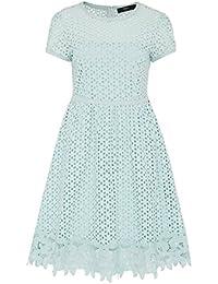 HALLHUBER Kleid mit Lochstickerei ausgestellter Schnitt