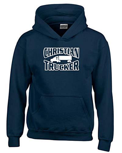Speed Shirt Kapuzen-Sweatshirt fur Kinder Blau Navy FUN1005 Christian Trucker Christian Kinder Sweatshirt