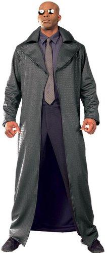 Matrix Reloaded Deluxe Morpheus Kostüm für Herren Brille Anzug Original Gr. STD, (Matrix Brille Morpheus)