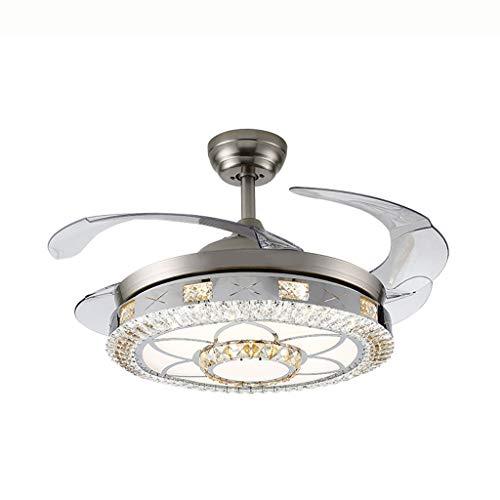 Lxmj ventilatore da soffitto ventilatore da soffitto a risparmio energetico invisibile led a parete con lampadario a parete