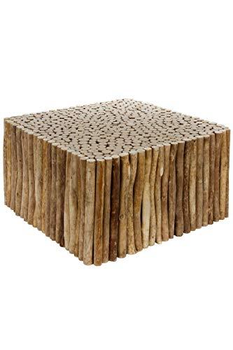 elbmöbel Table Basse en Bois Massif Marron Grand modèle