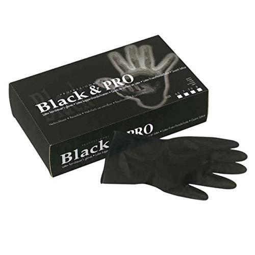 Sibel Black & Pro Latex-Handschuhe, Größe M, Schwarz, 20 Stück