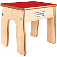 Preisvergleich für Little Helper FSTL01-2 - Funstool Kinderhocker aus Holz, natur/rot
