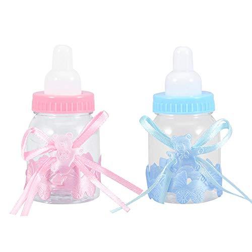 Furnoor 24 Stücke Füllbare Flaschen Süße Pralinenschachtel Geschenk für Baby Shower Party Dekorationen süß(1) -