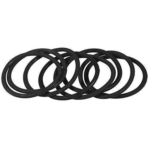 Elastici per capelli, lotto da 8, colore: nero, in Silicone, attaccare accessori per capelli - Nero Gioielli Silicone