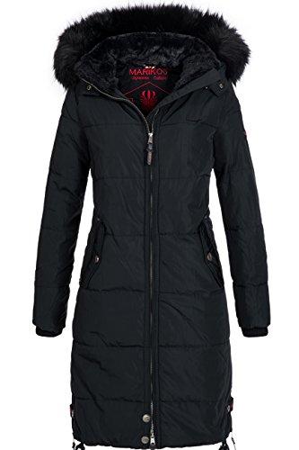 Marikoo Damen Winter Stepp Mantel Coco Schwarz Gr. XS