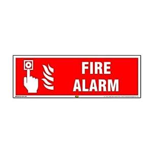 Mr. Safe – Fire Alarm Sign PVC Sticker 12 Inch X 4 Inch