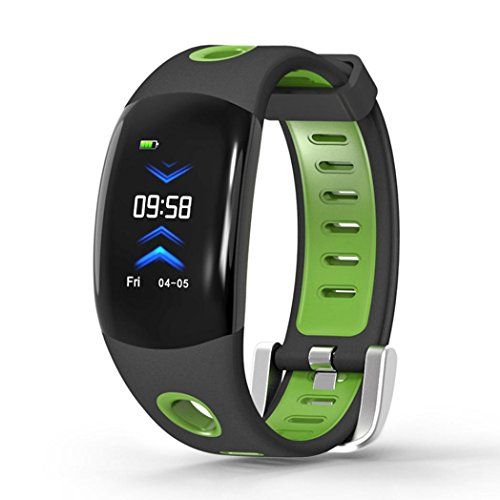 Fuibo Smartwatch, DM11 Blutdruck und Herzfrequenz-Überwachung Call Reminder Sports Smart Watch Armbanduhr Sport Fitness Tracker Armband (Grün)
