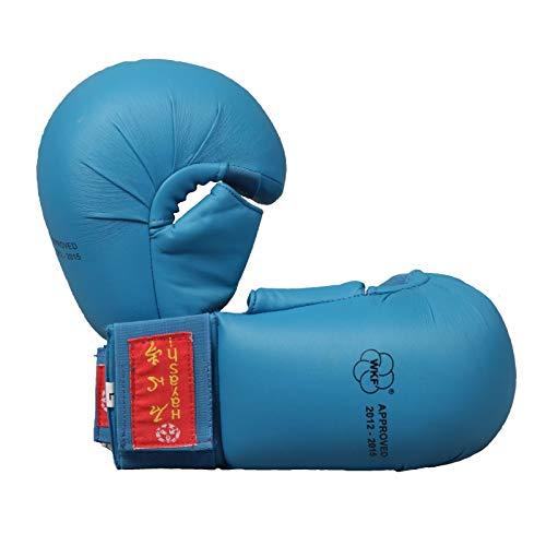 Hayashi Tsuki offizieller Wkf Karatehandschuh mit Daumen Unisex, Uni, 238, blau, S
