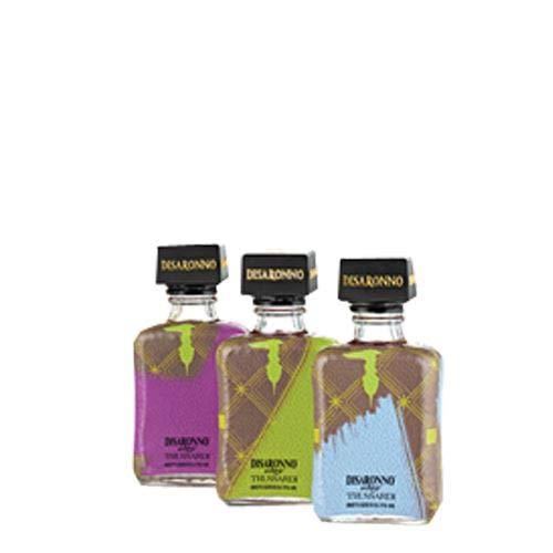 Disaronno Amaretto Trussardi 3x5cl Gift Set (Purple, Green, Blue)