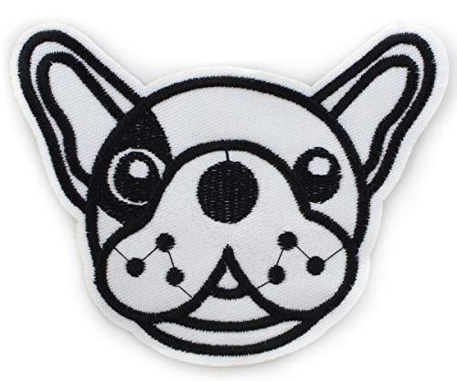 1pc Black Dog französische Bulldogge Nähen-auf Gestickten Nähen Applique Patch DIY-Kunst-Geschenk-Kostüm Abzeichen Für Jeans, Jacke, Kleidung, 115mm x 95mm