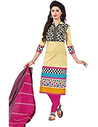 Baalar Women's Cotton Dress Material (1404_Free Size_beige)
