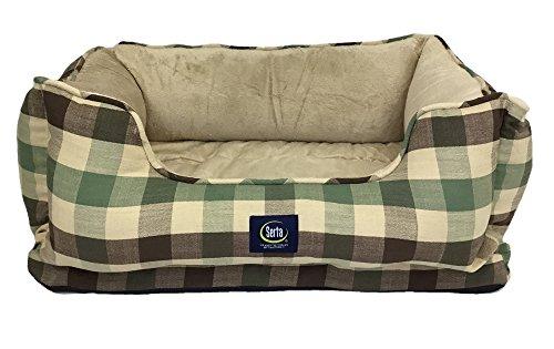 serta-serta-cuddler-dog-bed-green-plaid