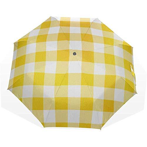 La migliore protezione solare ombrelli gialli carini ombrelli artistici 3 pieghe ombrello da viaggio ombrellone ombrelli pieghevoli pioggia