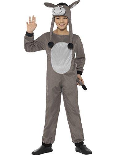 Smiffys, Kinder Unisex Esel Kostüm, Jumpsuit und Hut, Alter: 4-6 Jahre, (Für Hexe Kinder Kostüme Böse)